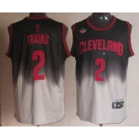 Cavaliers #2 Kyrie Irving BlackGrey Fadeaway Fashion Stitched NBA Jersey