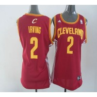Cavaliers #2 Kyrie Irving Red Women's Road Stitched NBA Jersey