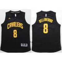 Cavaliers #8 Matthew Dellavedova Black Fashion Stitched NBA Jersey