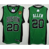 Celtics #20 Ray Allen Stitched Green Black Number Final Patch NBA Jersey