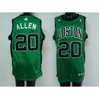 Celtics #20 Ray Allen Stitched Green Black Number NBA Jersey