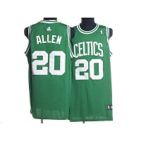 Celtics #20 Ray Allen Stitched Green White Number NBA Jersey