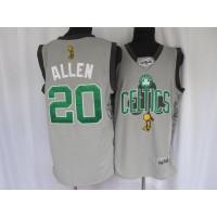 Celtics #20 Ray Allen Stitched Grey 2010 Finals Commemorative NBA Jersey