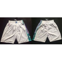 Charlotte Hornets White NBA Shorts