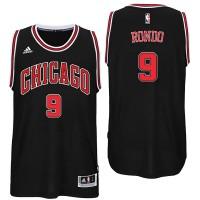 Chicago Bulls #9 Rajon Rondo Alternate Black New Swingman Jersey