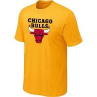 Chicago Bulls Big & Tall Primary Logo Yellow NBA T-Shirts