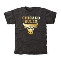 Chicago Bulls Gold Collection Tri-Blend T-Shirt Black