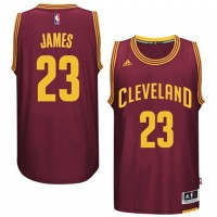 Cleveland Cavaliers #23 LeBron James Red Road New Swingman Jersey
