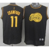Clippers #11 Jamal Crawford Black Precious Metals Fashion Stitched NBA Jersey