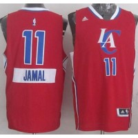 Clippers #11 Jamal Crawford Red 2014-15 Christmas Day Stitched NBA Jersey