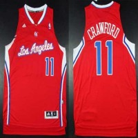 Clippers #11 Jamal Crawford Red Road Stitched NBA Jersey