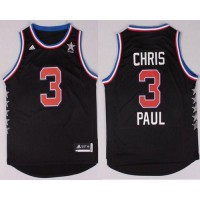 Clippers #3 Chris Paul Black 2015 All Star Stitched NBA Jersey