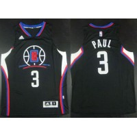 Clippers #3 Chris Paul Black Alternate Stitched NBA Jersey
