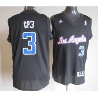 Clippers #3 Chris Paul Black CP3 Fashion Stitched NBA Jersey