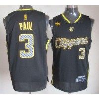 Clippers #3 Chris Paul Black Electricity Fashion Stitched NBA Jersey