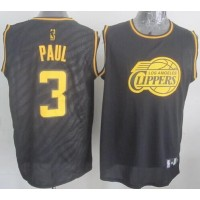 Clippers #3 Chris Paul Black Precious Metals Fashion Stitched NBA Jersey