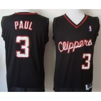 Clippers #3 Chris Paul Black Revolution 30 Stitched NBA Jersey