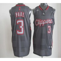 Clippers #3 Chris Paul Black Rhythm Fashion Stitched NBA Jersey