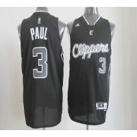 Clippers #3 Chris Paul Black Shadow Stitched NBA Jersey