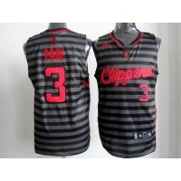 Clippers #3 Chris Paul BlackGrey Groove Stitched NBA Jersey
