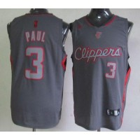 Clippers #3 Chris Paul Grey Graystone Fashion Stitched NBA Jersey