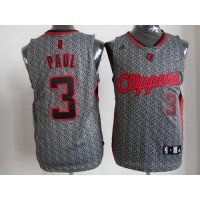 Clippers #3 Chris Paul Grey Static Fashion Stitched NBA Jersey