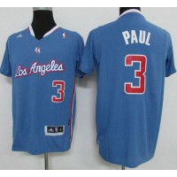 Clippers #3 Chris Paul Light Blue Pride Swingman Stitched NBA Jersey