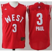 Clippers #3 Chris Paul Red 2016 All Star Stitched NBA Jersey