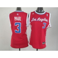 Clippers #3 Chris Paul Red Women's Road Stitched NBA Jersey