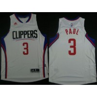 Clippers #3 Chris Paul White Revolution 30 Stitched NBA Jersey