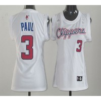 Clippers #3 Chris Paul White Women Fashion Stitched NBA Jersey