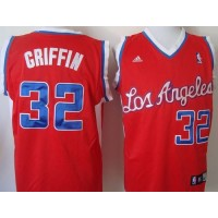Clippers #32 Blake Griffin 2011 New Style Red Revolution 30 Stitched NBA Jersey