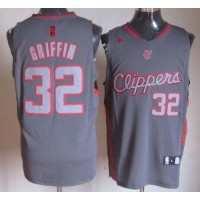 Clippers #32 Blake Griffin Grey Graystone Fashion Stitched NBA Jersey