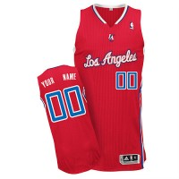 Clippers Personalized Authentic Red NBA Jersey (S-3XL)