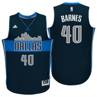 Dallas Mavericks #40 Harrison Barnes Cityscape Alternate Navy Swingman Jersey