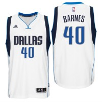 Dallas Mavericks #40 Harrison Barnes New Swingman Home White Jersey