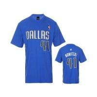 Dallas Mavericks #41 Dirk Nowitzki Blue NBA T-Shirts