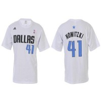 Dallas Mavericks #41 Dirk Nowitzki White NBA T-Shirts