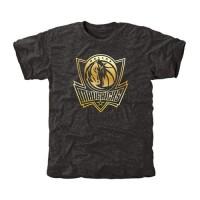 Dallas Mavericks Gold Collection Tri-Blend T-Shirt Black