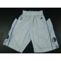Dallas Mavericks White NBA Shorts