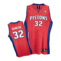 Detroit Pistons 32 Richard Hamilton Authentic red Jersey