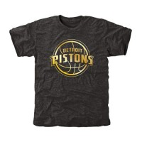 Detroit Pistons Gold Collection Tri-Blend T-Shirt Black