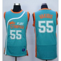 Flint Tropics #55 Vakidis Blue Semi-Pro Movie Stitched Basketball Jersey