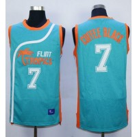 Flint Tropics #7 Coffee Black Blue Semi-Pro Movie Stitched Basketball Jersey