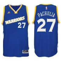 Golden State Warriors #27 Zaza Pachulia 2016-17 Crossover Alternate Blue New Swingman Jersey