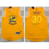 Golden State Warriors #30 Stephen Curry Gold AU 2017 New Stitched NBA Jersey