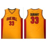 Golden State Warriors #33 Kevin Durant Gold Oak Hill Academy High School Stitched NBA Jersey