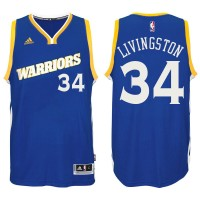 Golden State Warriors #34 Shaun Livingston 2016-17 Crossover Alternate Blue New Swingman Jersey