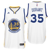 Golden State Warriors #35 Kevin Durant 2016 Home White New Swingamn Jersey