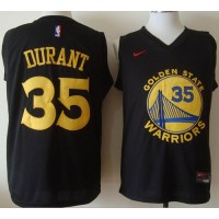 Golden State Warriors #35 Kevin Durant Black Fashion Stitched NBA Jersey